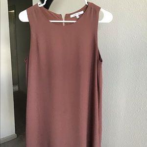 Mauve Summer Dress with back zipper detail